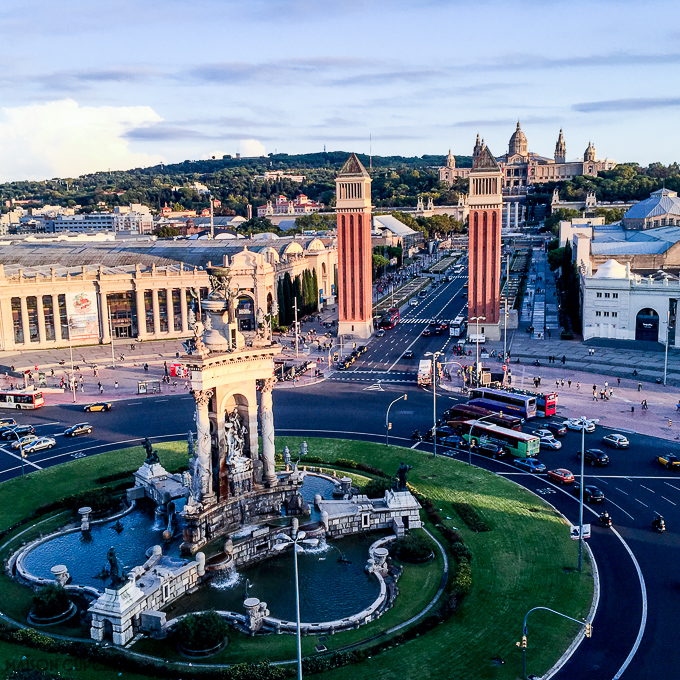 Weekend in Barcelona Plaça d'Espanya