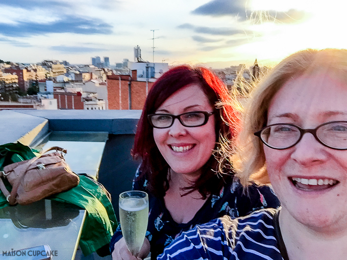 Drinking cava in Barcelona