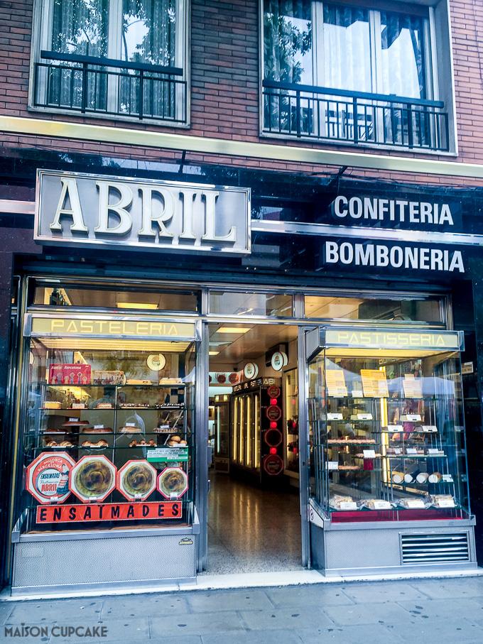 Barcelona Abril confiteria bomboneria Spanish bakery
