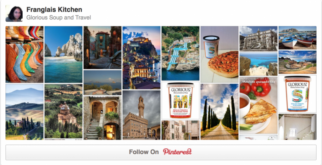Glorious Soup and Travel Pinterest Board