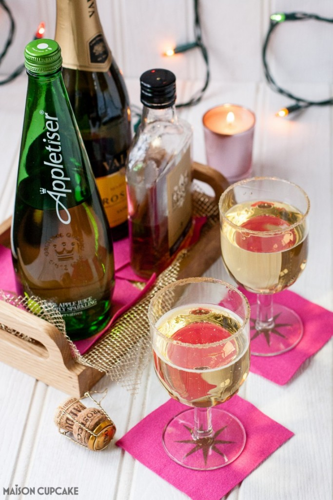Prosecco Cocktail with Appletiser and Brandy