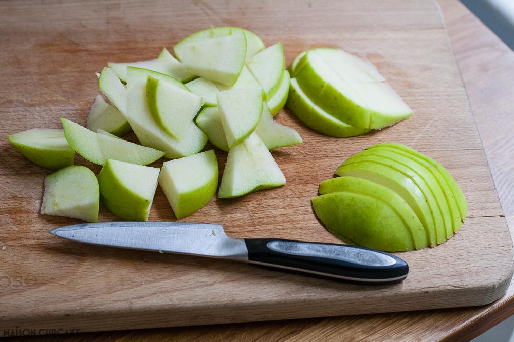 Sliced Bramley Apples