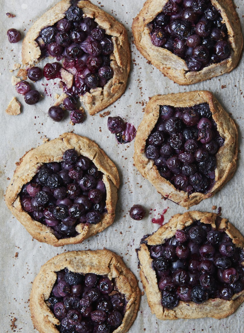Blueberry Galettes free from refined sugar, gluten free and dairy free; rustic hand pie tarts with fresh fruit from Clean Cakes by Henrietta Inman (picture only)