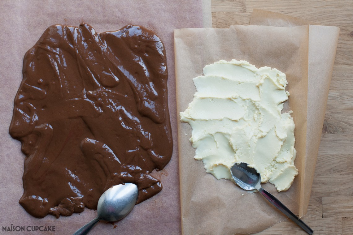 Chocolate Bunny Bum Cake Step by Step pics - making chocolate moulding paste
