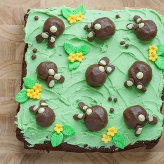 Easter Chocolate Bunny Bum Cake