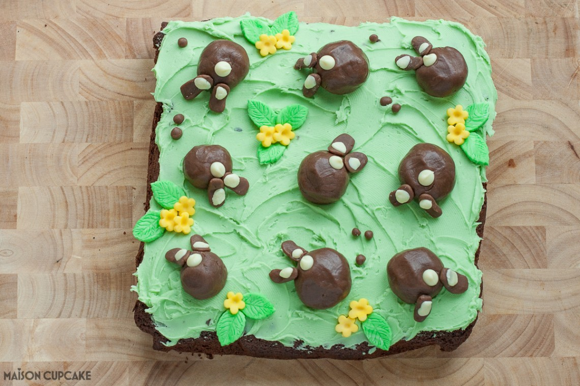 Chocolate Bunny Bum Cake