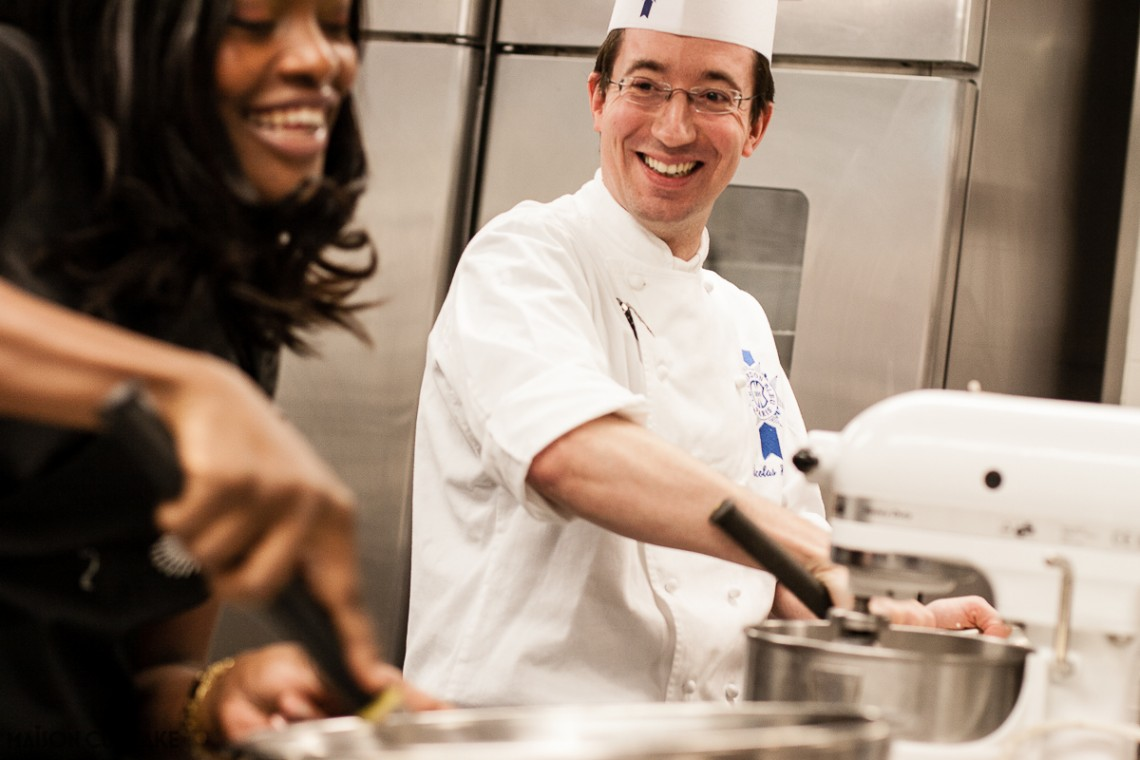 Cooking at Cordon Bleu London