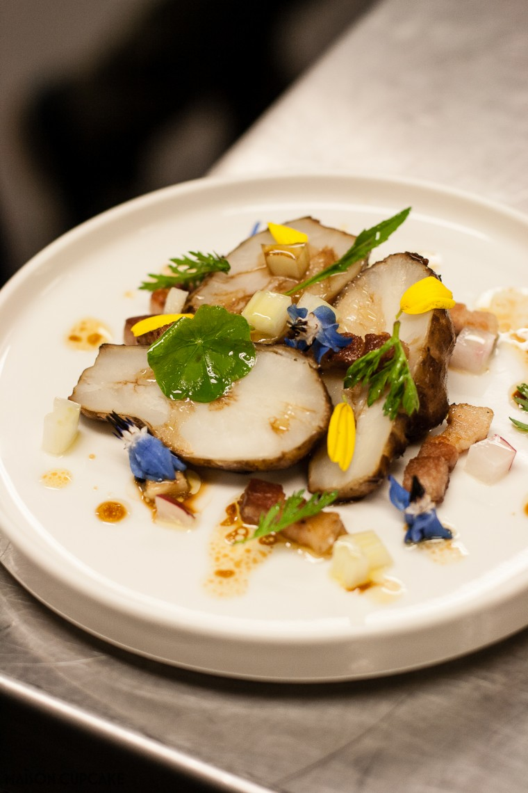 Jerusalem Artichoke Salad by Roberto Petza Sardinian Michelin Starred Chef of Sapposentu
