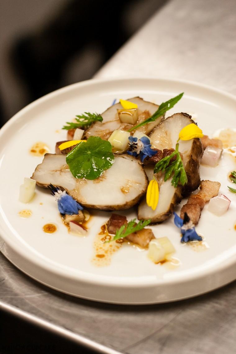 Jerusalem Artichoke Salad by Roberto Petza Sardinian Michelin Starred Chef of Sapposentu