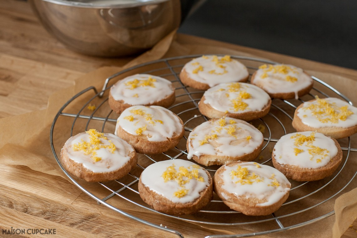 Easy to make slice and bake cookies with lemon icing - step by step