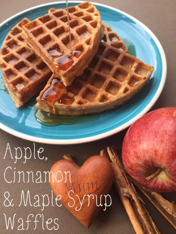 apple cinnamon maple syrup waffles