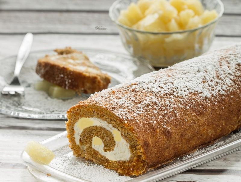 BOTW Carrot Cake Swiss Roll