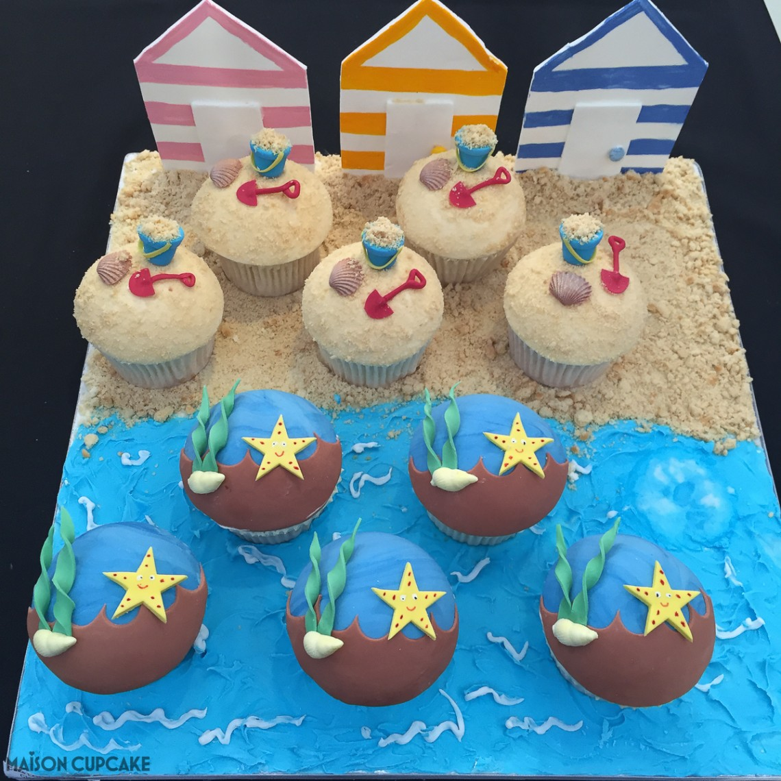 Seaside cupcakes by Stephanie Barnes