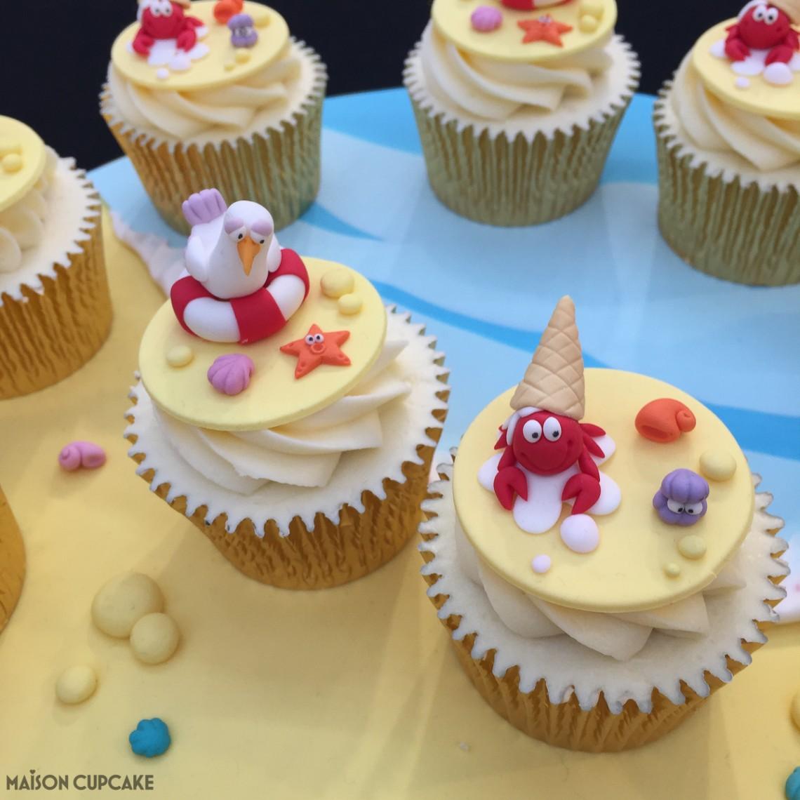 Seaside cupcakes