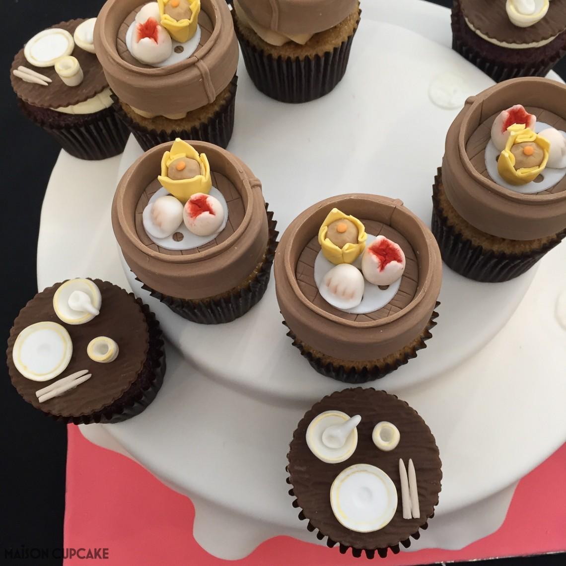 Dim sum basket cupcakes by Natalie Chow