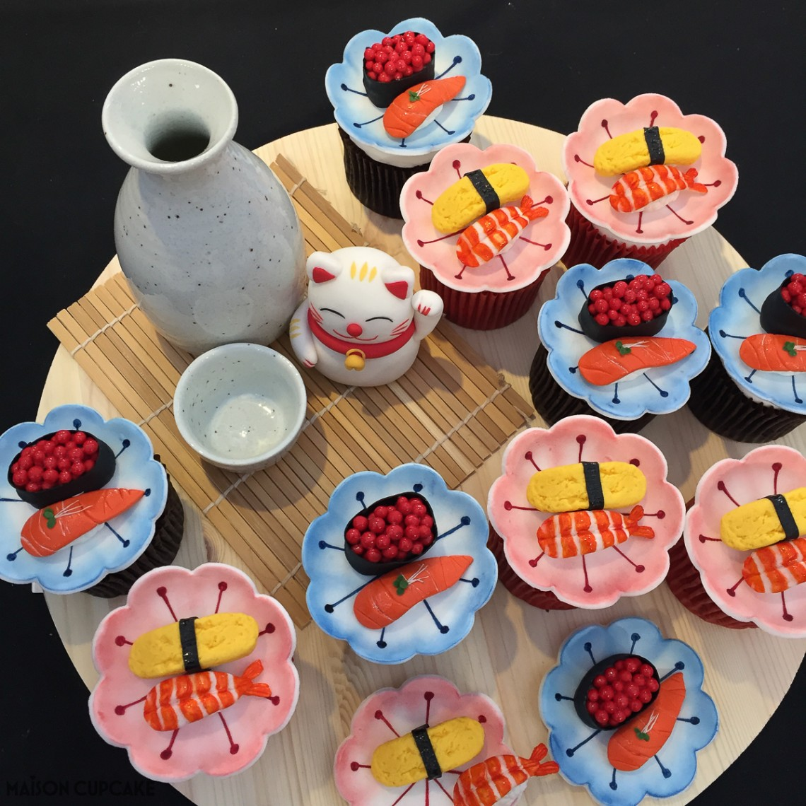 Sushi Cupcakes by Hye Eun Lee