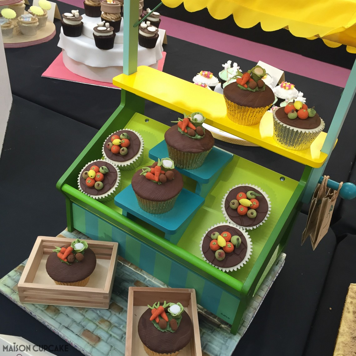Vegetable Stall Cupcakes by Lisa Williams