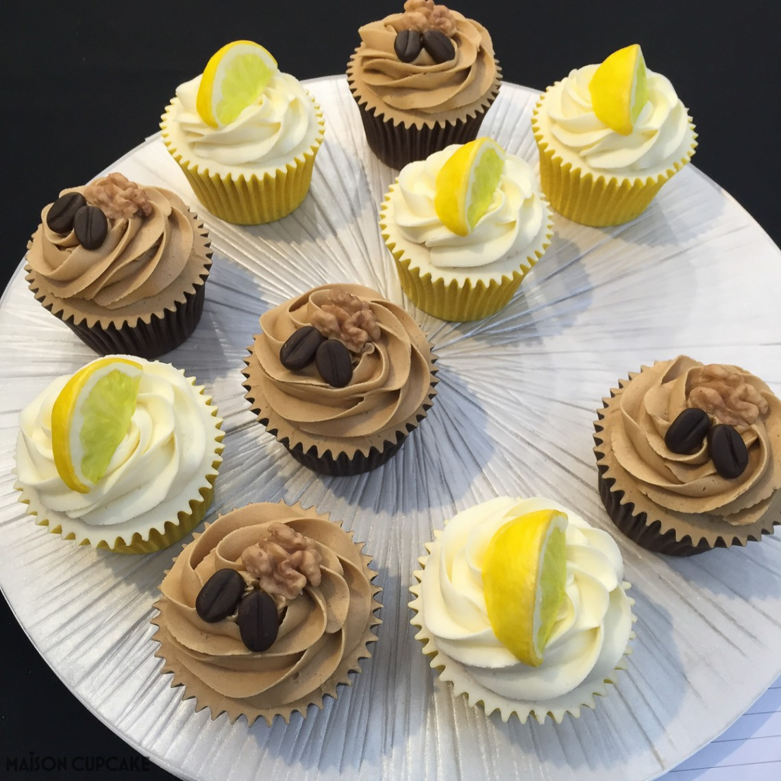 Coffee and lemon cupcakes by Sarah Sibley