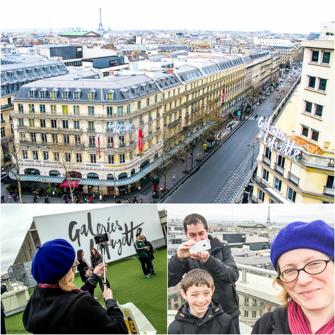 On the roof of Galeries Lafayettes is THE best free view of Paris !
