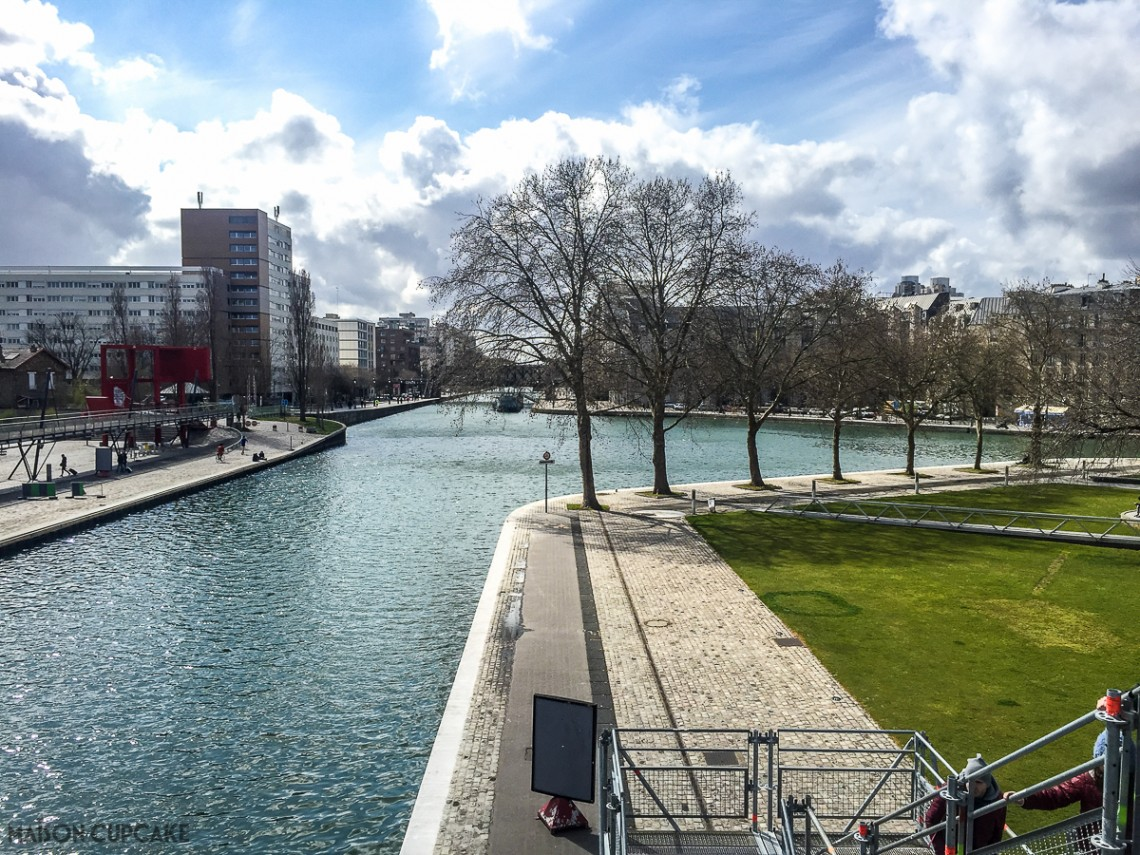 Canal St Martin, north east Paris near the Science Museum