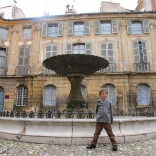 Fountain square in Aix en Provence
