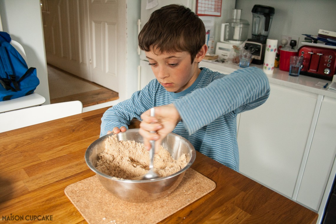 Dorset Apple Cake - baking with kids