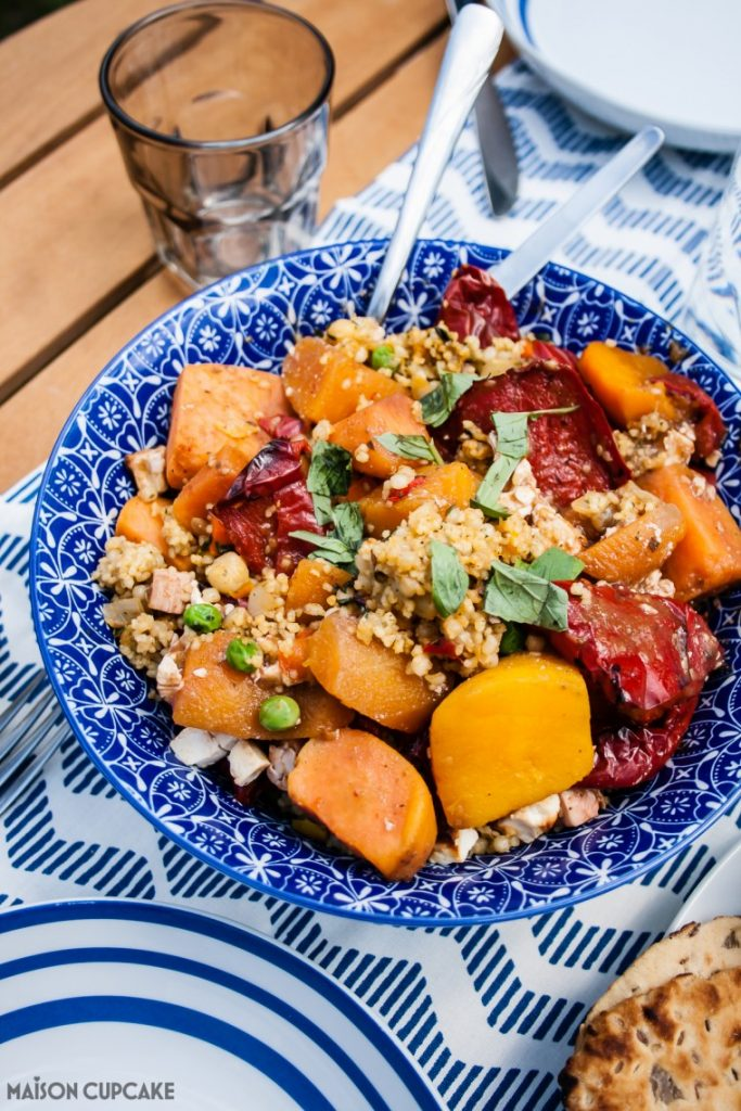 Easy Roast Vegetable Couscous Recipe using 2 ready made mixes from Iceland