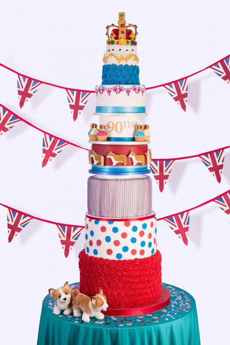 9 Tiered Queens 90th Birthday Cake By Juliet Sear