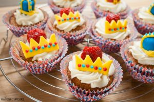 Strawberry Crown Cupcakes