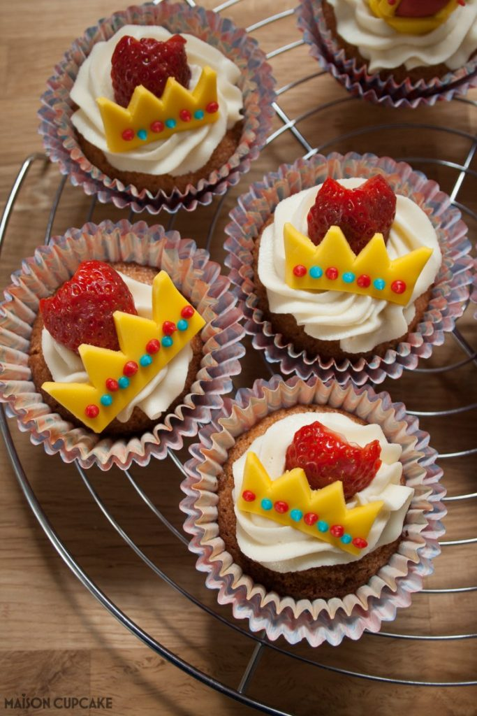 Strawberry Royal Cupcakes
