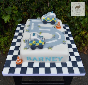 Police Car Birthday Cake