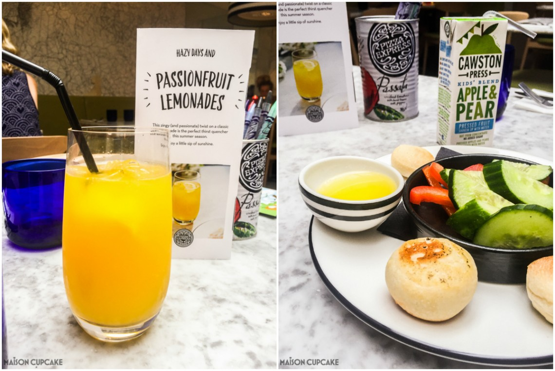 New Pizza Express Menu options for summer - passionfruit lemonade