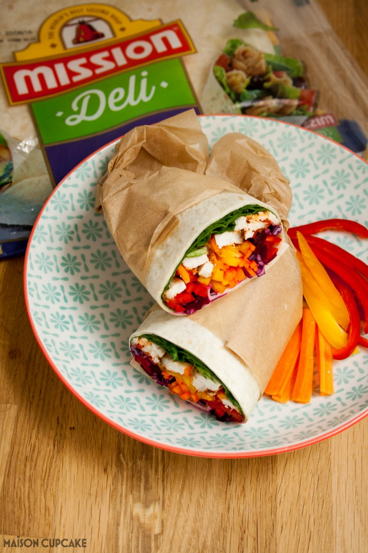 Eat the rainbow with these spicy chicken burrito wraps - original recipe with step by step photos how to make the perfect wrap
