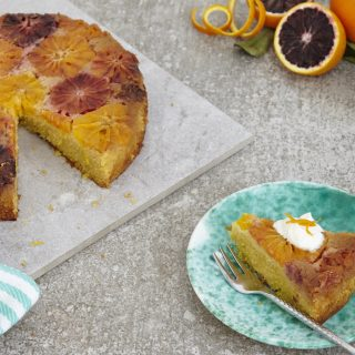 Blood Orange Polenta Cake (gluten free)