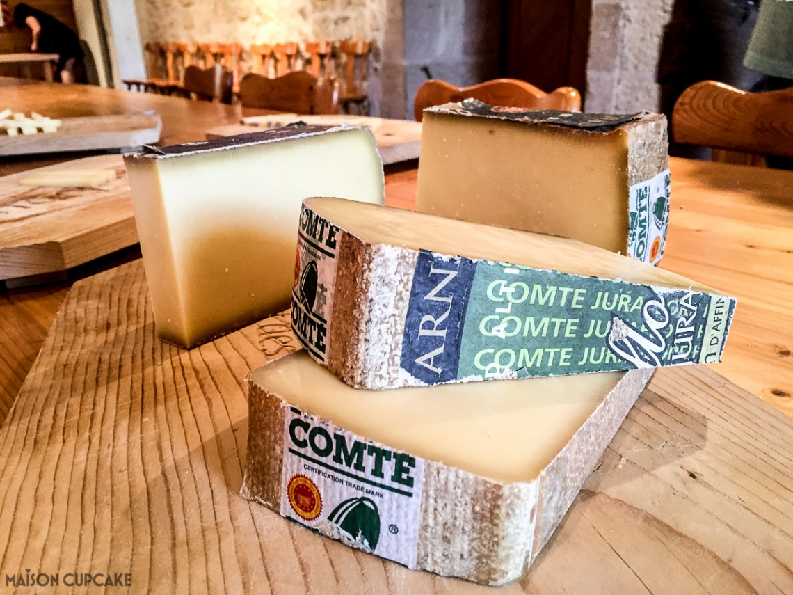 Slices of Comte cheese