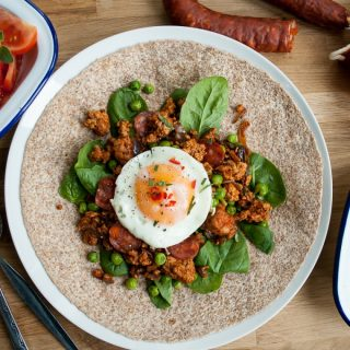 Spicy Egg Wraps with Pork and Chorizo (British Lion Eggs)