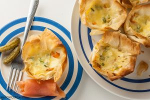 Salmon Filo Quiches (with British Lion Eggs)