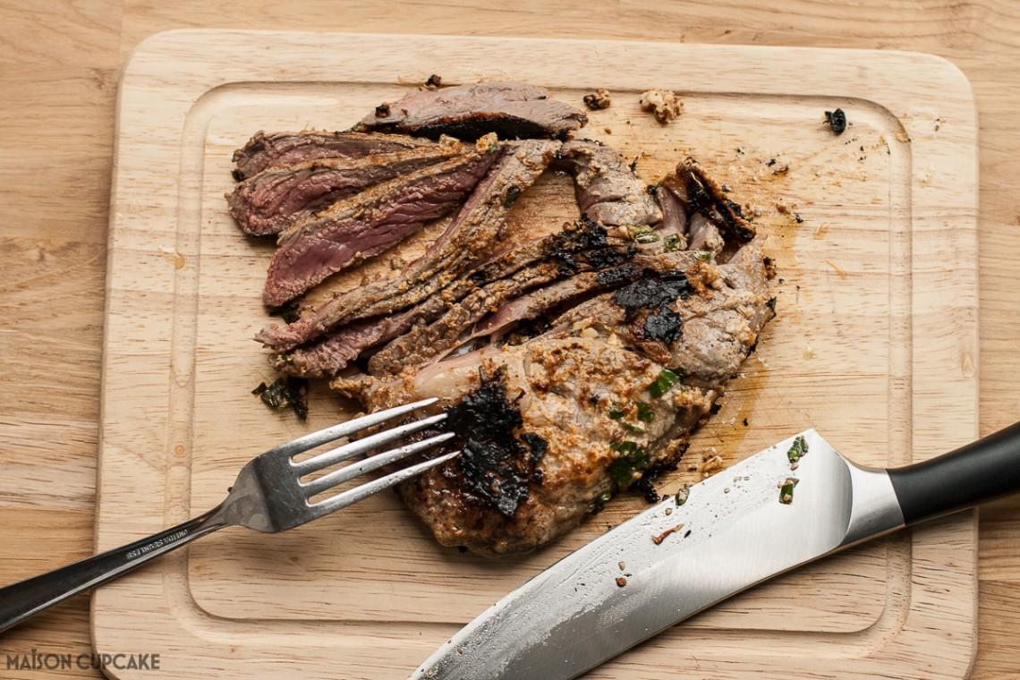 Lamb Steaks marinaded in Sheep Yogurt and ras el hanout