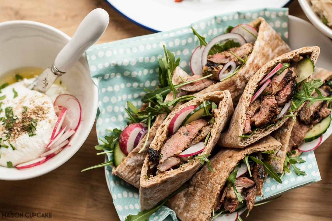Pitta Pockets with Lamb and Sheep's Labneh
