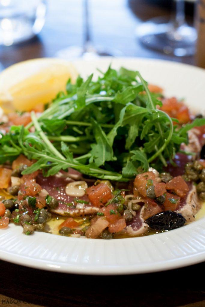 Côte Brasserie - London Barbican - Tuna Carpaccio