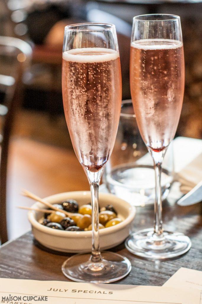 Côte Brasserie - London Barbican - Kir and Olives Aperitif