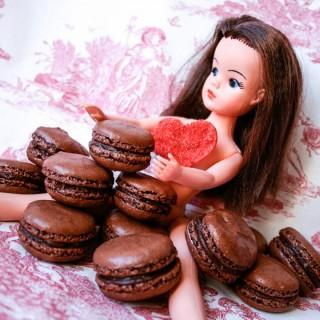 Chocolate Macarons with Chocolate Ganache