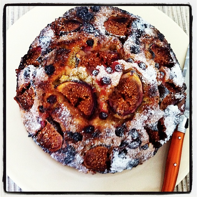 Gluten free fig and red currant cake