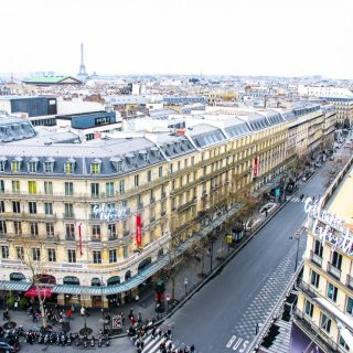 Galeries Lafayettes has the best free view in Paris!