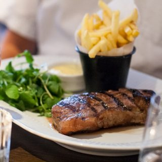 Côte Brasserie - London Barbican - Sirloin Steak with Frites and Béarnaise Sauce
