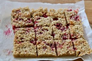 Raspberry and Coconut Flapjacks