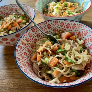 Cold Chicken Noodle Salad